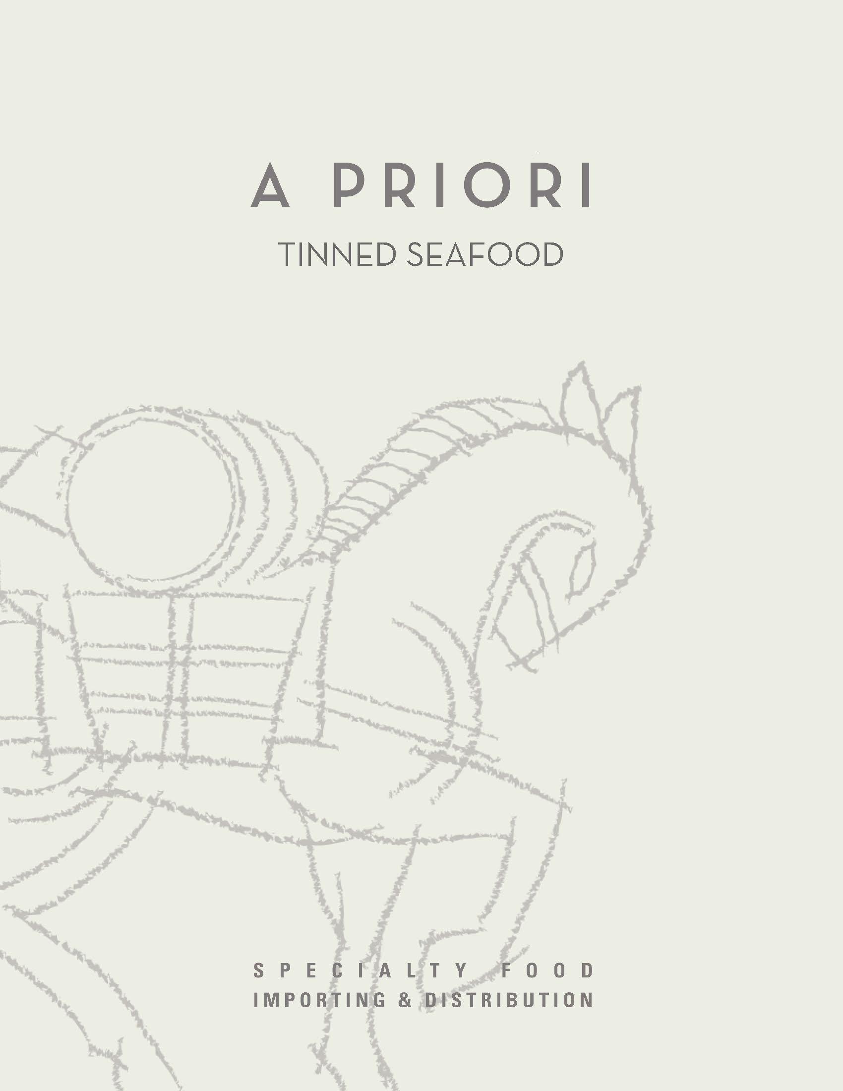 A Priori Tinned Seafood Catalog